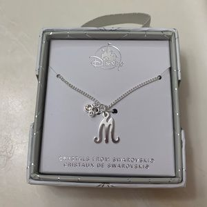 """Silver Disney """"M"""" Necklace"""